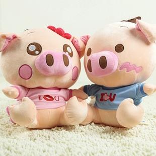 正版超萌可爱乖乖猪~情侣公仔毛绒玩具精品礼物~我的爱情宣言