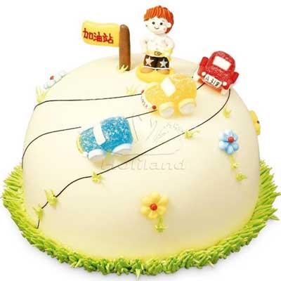 婴儿吃蛋糕 可爱 中国